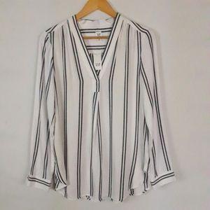 Gap Maternity black and white stripe tunic size XS